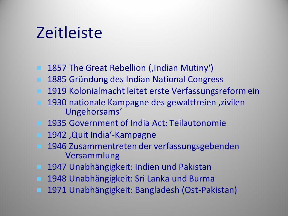 Zeitleiste 1857 The Great Rebellion ('Indian Mutiny')