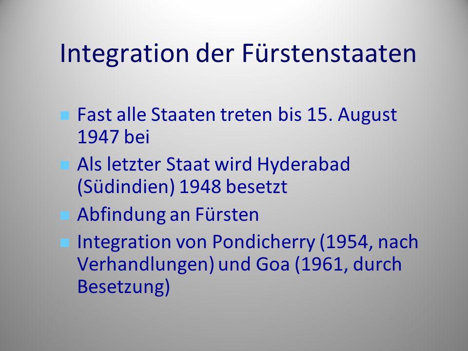 Integration der Fürstenstaaten