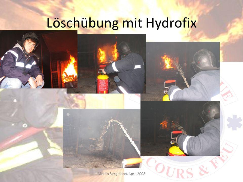 Löschübung mit Hydrofix
