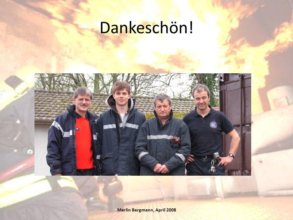 Dankeschön! Merlin Bergmann, April 2008
