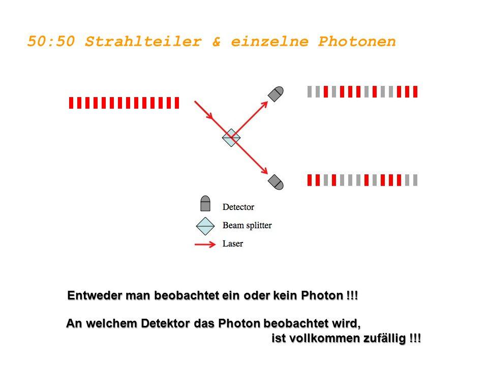 50:50 Strahlteiler & einzelne Photonen