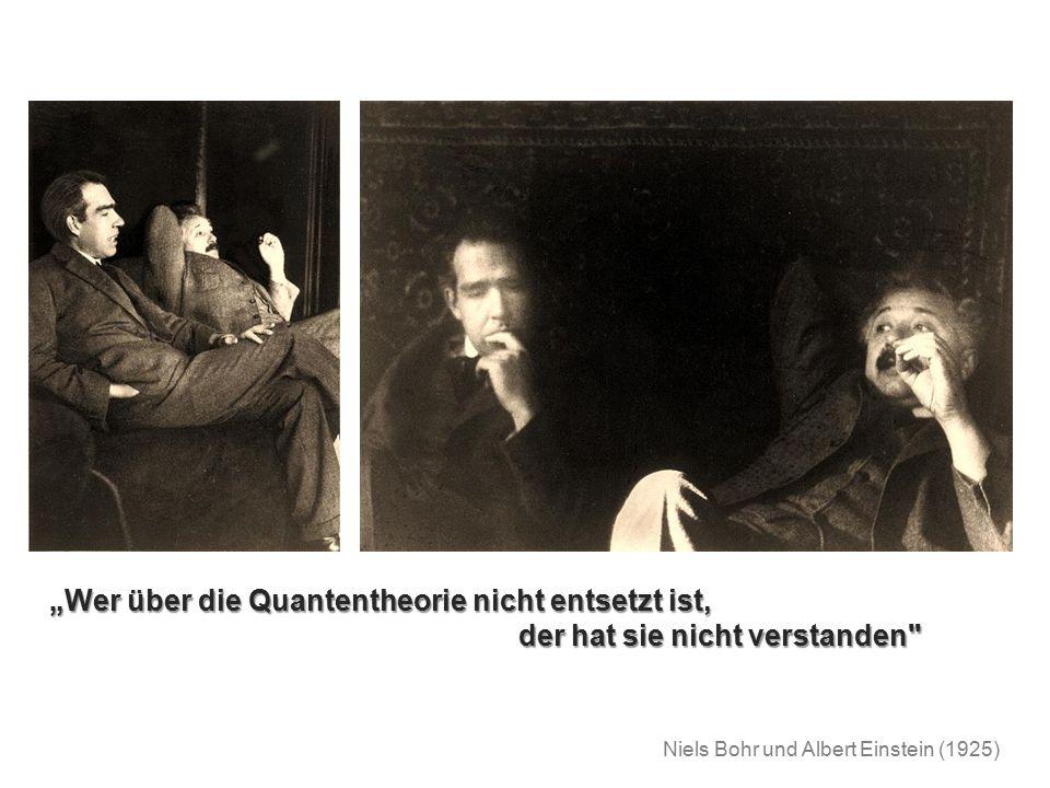"""""""Wer über die Quantentheorie nicht entsetzt ist,"""