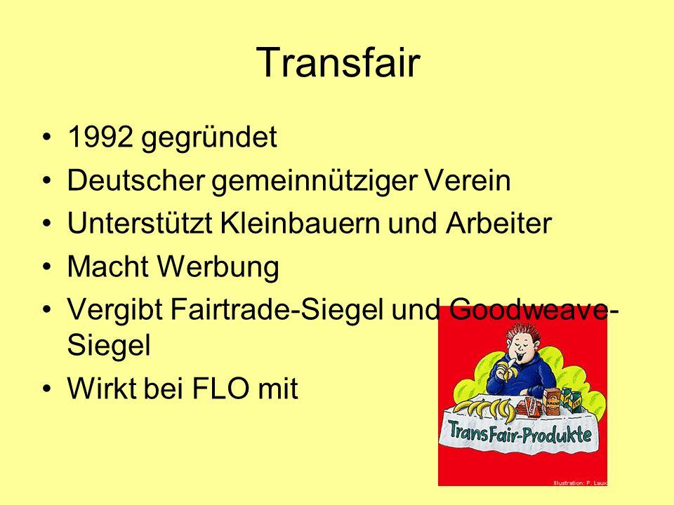 Transfair 1992 gegründet Deutscher gemeinnütziger Verein