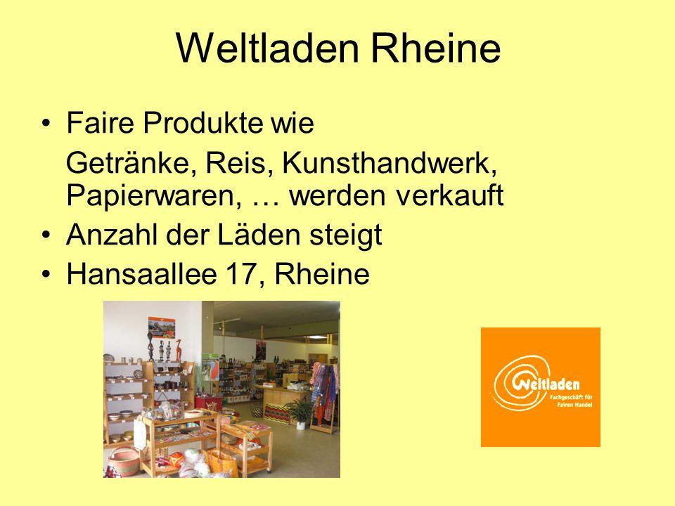Weltladen Rheine Faire Produkte wie
