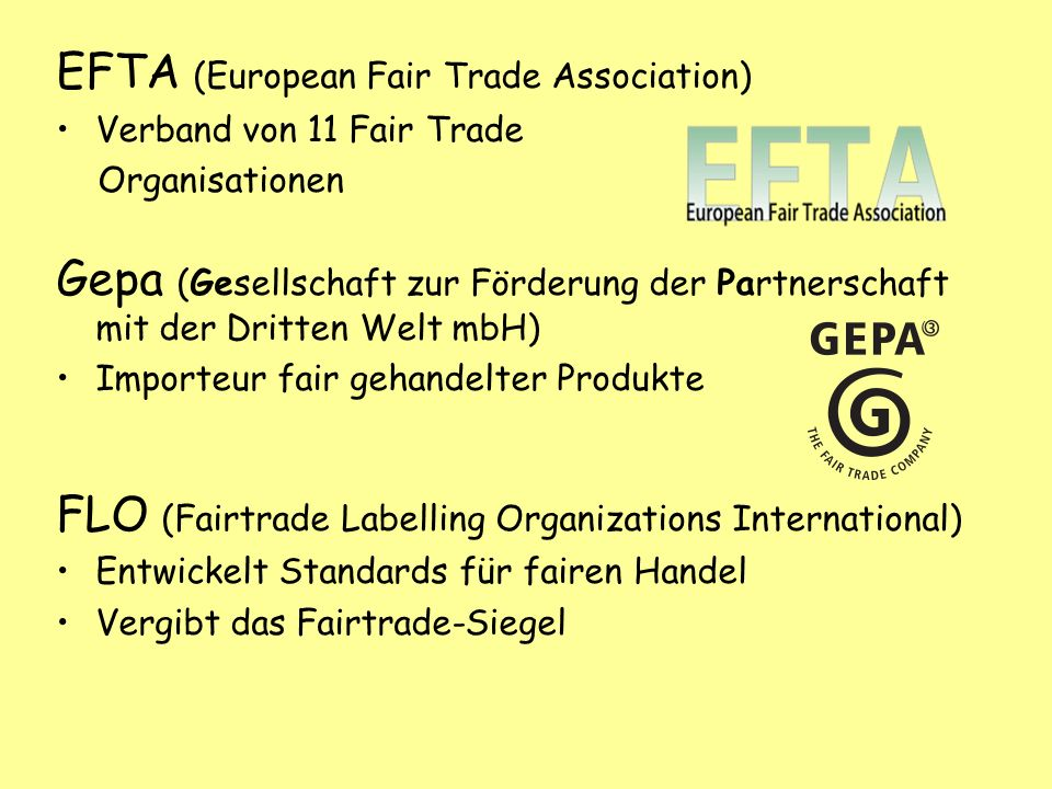 EFTA (European Fair Trade Association)