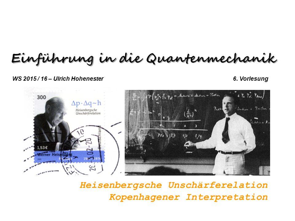 Heisenbergsche Unschärferelation Kopenhagener Interpretation