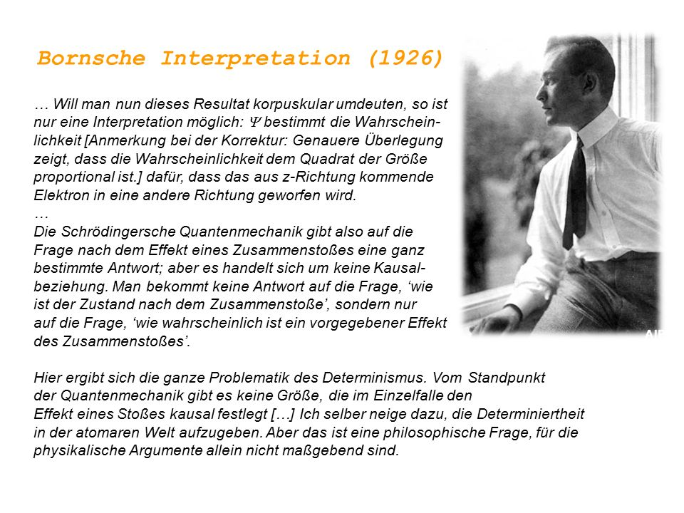 Bornsche Interpretation (1926)