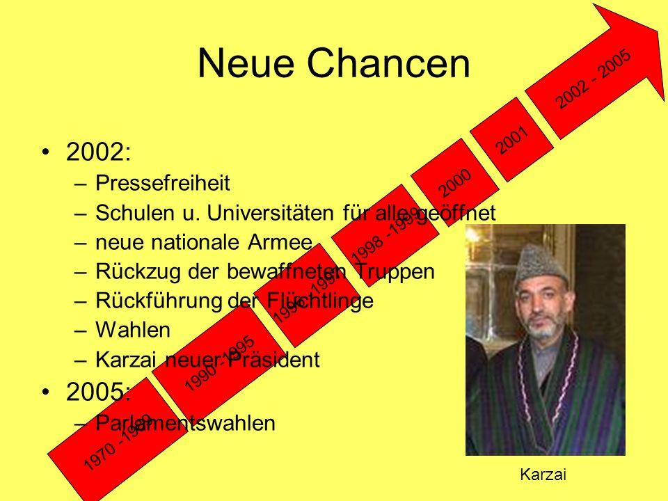 Neue Chancen 2002: 2005: Pressefreiheit