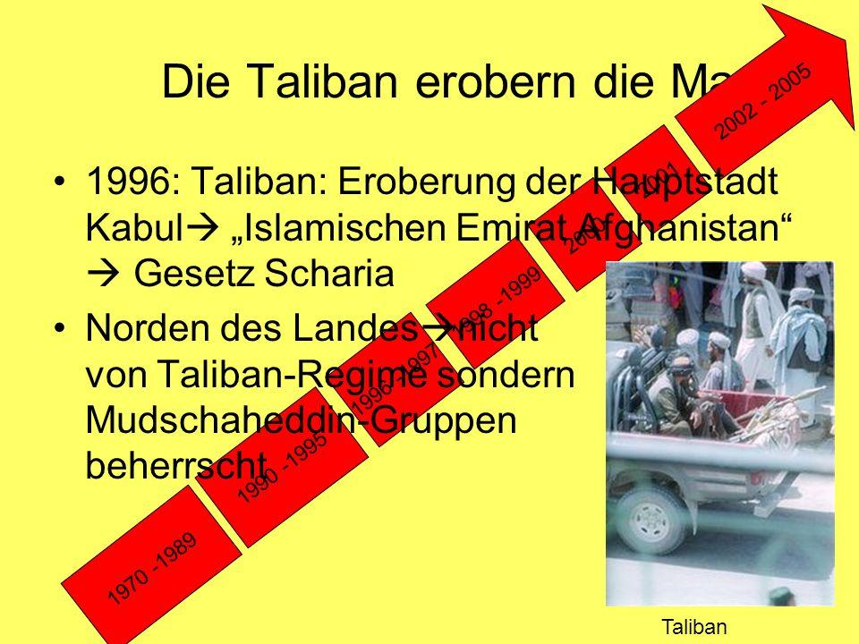 Die Taliban erobern die Macht