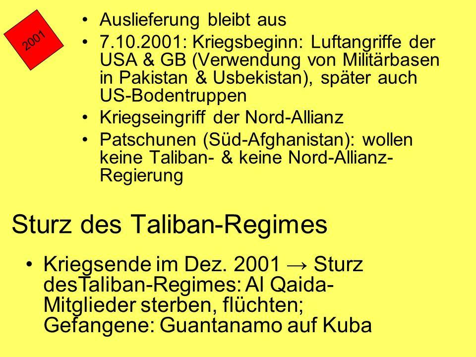 Sturz des Taliban-Regimes