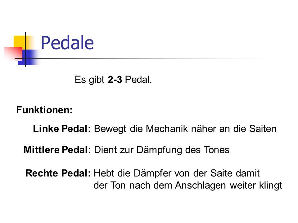 Pedale Es gibt 2-3 Pedal. Funktionen: