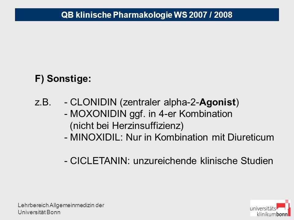 z.B. - CLONIDIN (zentraler alpha-2-Agonist)