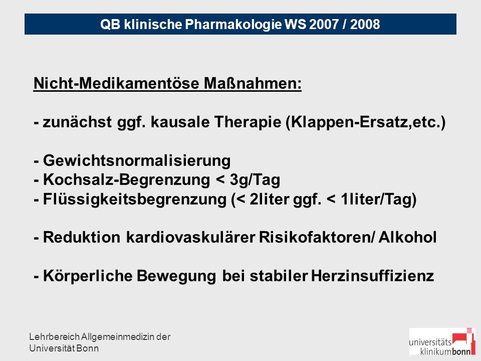 Nicht-Medikamentöse Maßnahmen: