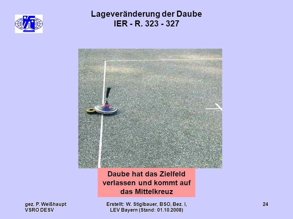 Lageveränderung der Daube IER - R. 323 - 327
