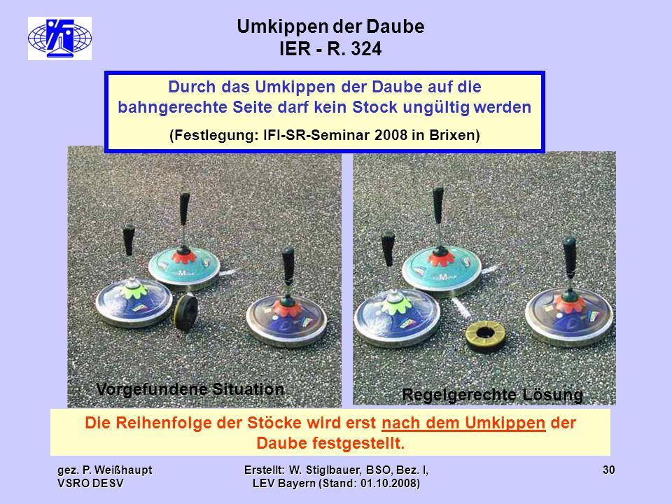 Umkippen der Daube IER - R. 324