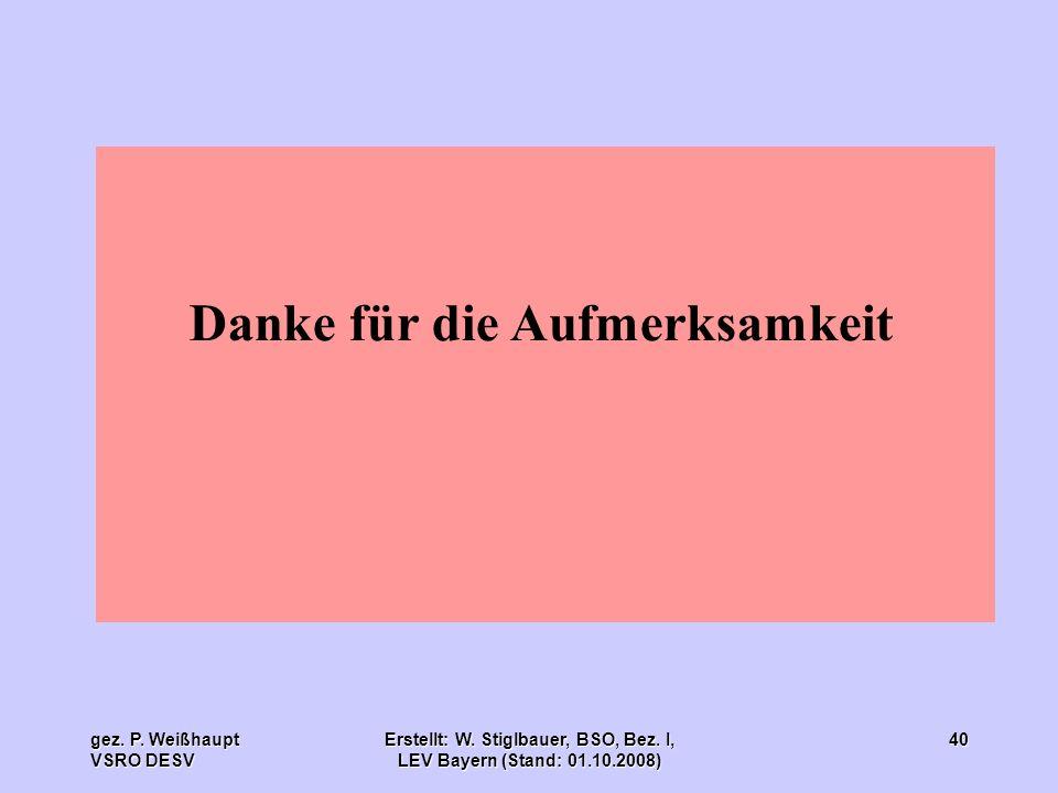 Erstellt: W. Stiglbauer, BSO, Bez. I, LEV Bayern (Stand: 01.10.2008)