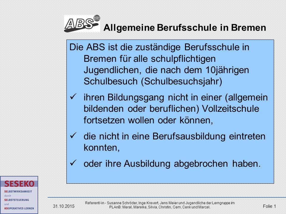 Allgemeine Berufsschule in Bremen