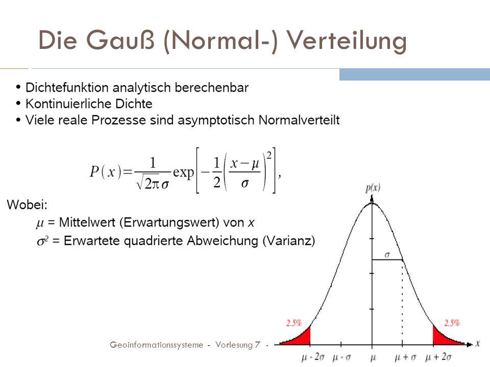 Die Gauß (Normal-) Verteilung