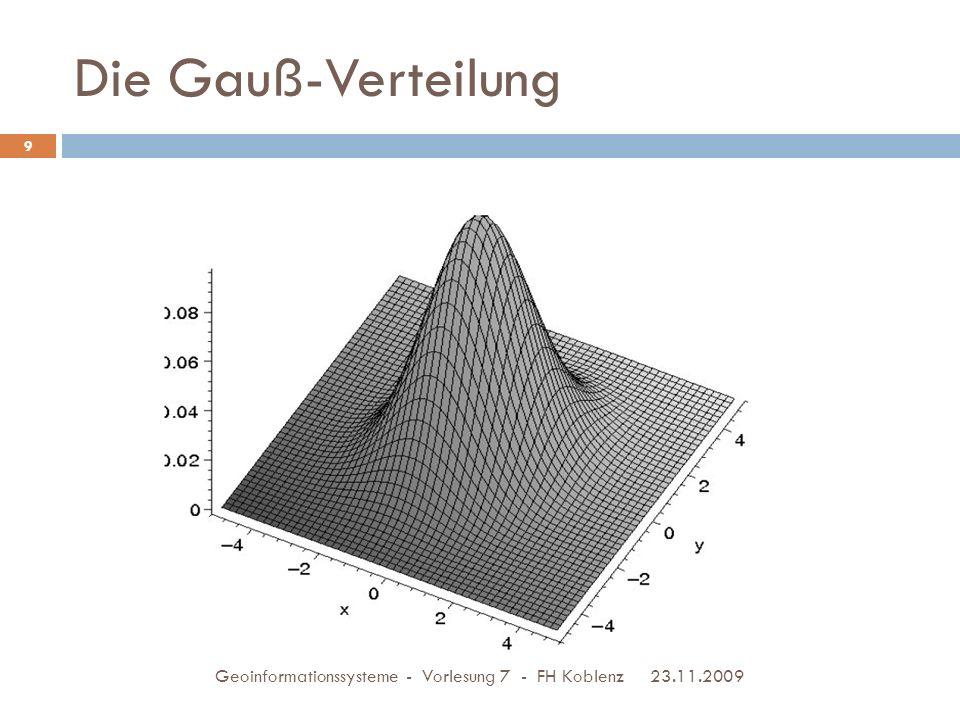 Die Gauß-Verteilung Geoinformationssysteme - Vorlesung 7 - FH Koblenz