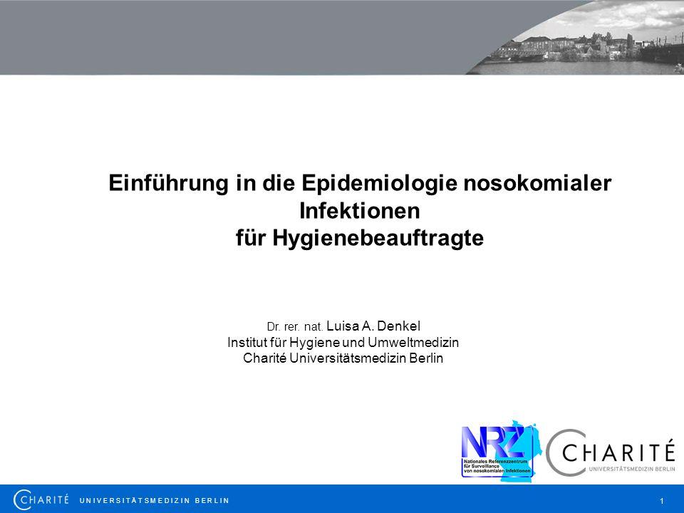 Einführung in die Epidemiologie nosokomialer Infektionen
