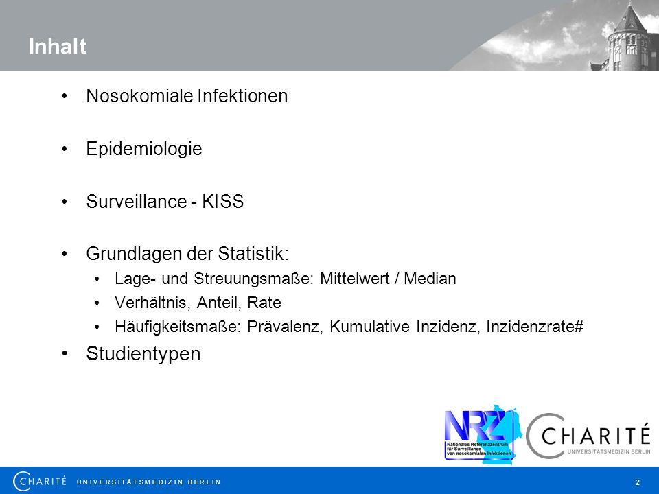 Inhalt Studientypen Nosokomiale Infektionen Epidemiologie