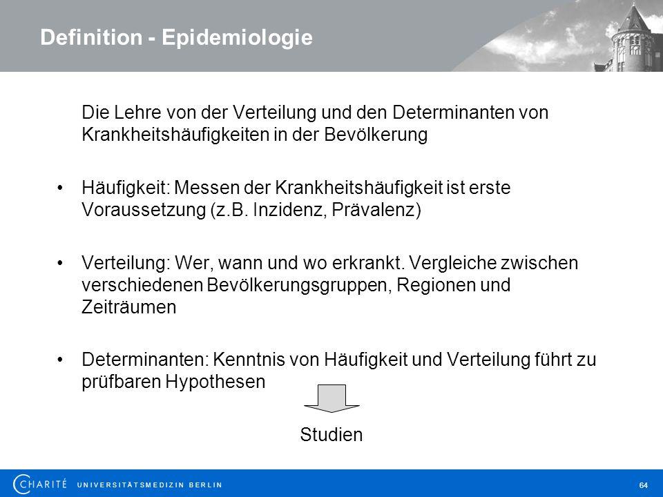 Definition - Epidemiologie