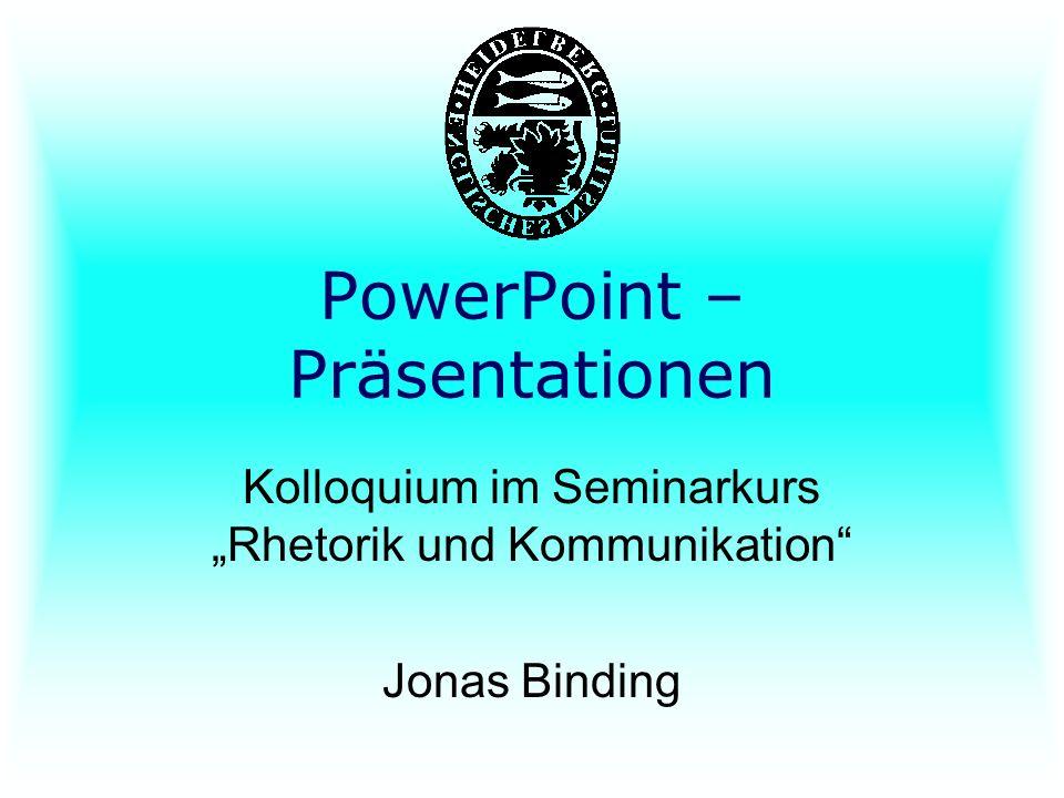 PowerPoint – Präsentationen