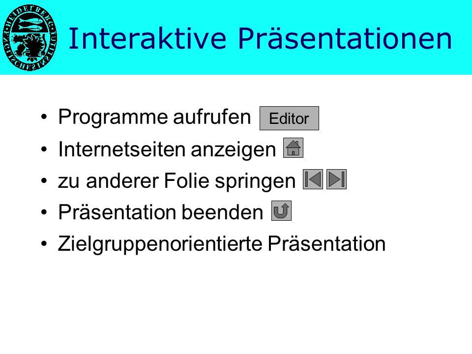 Interaktive Präsentationen