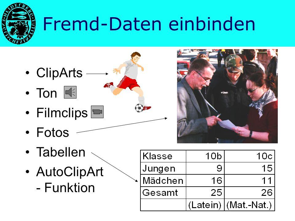 Fremd-Daten einbinden