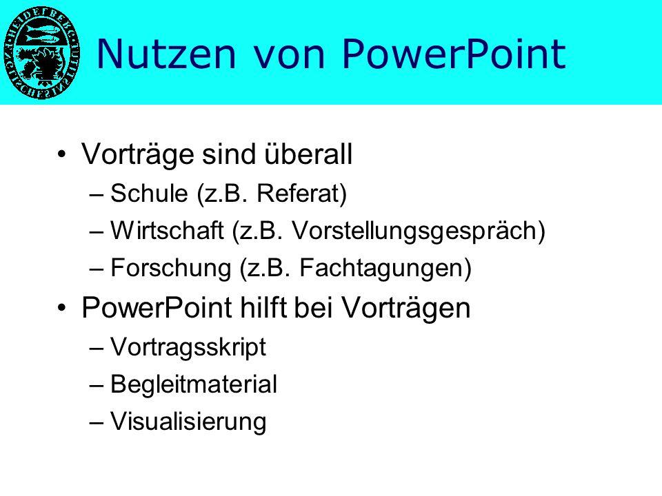 Nutzen von PowerPoint Vorträge sind überall