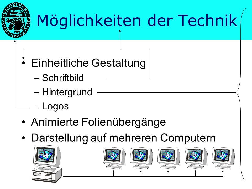 Möglichkeiten der Technik