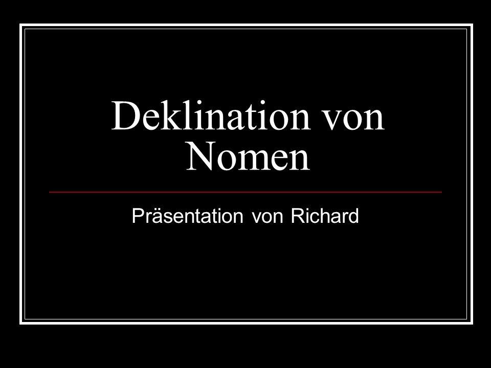Präsentation von Richard