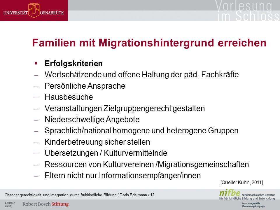Familien mit Migrationshintergrund erreichen