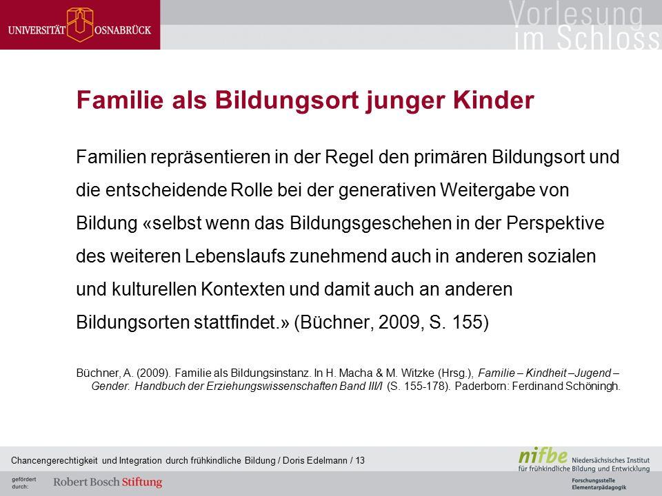 Familie als Bildungsort junger Kinder