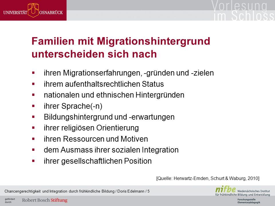 Familien mit Migrationshintergrund unterscheiden sich nach