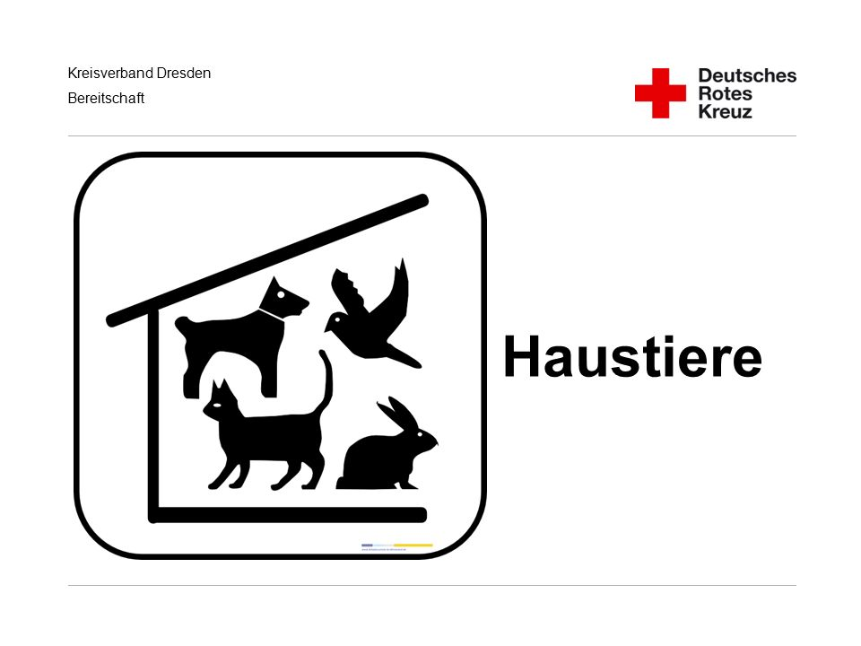 Haustiere Handlungsempfehlungen für RD/KatS bei Terroranschlägen