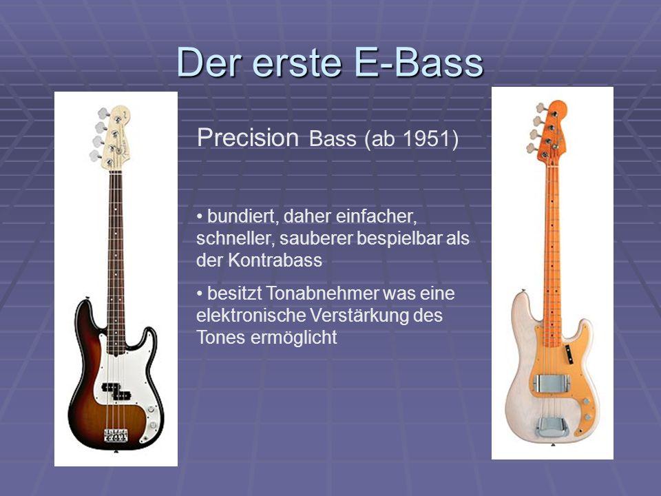 Der erste E-Bass Precision Bass (ab 1951)