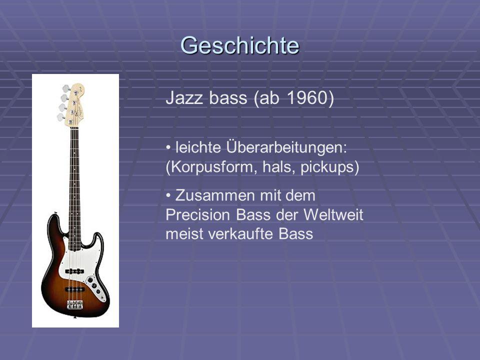 Geschichte Jazz bass (ab 1960)