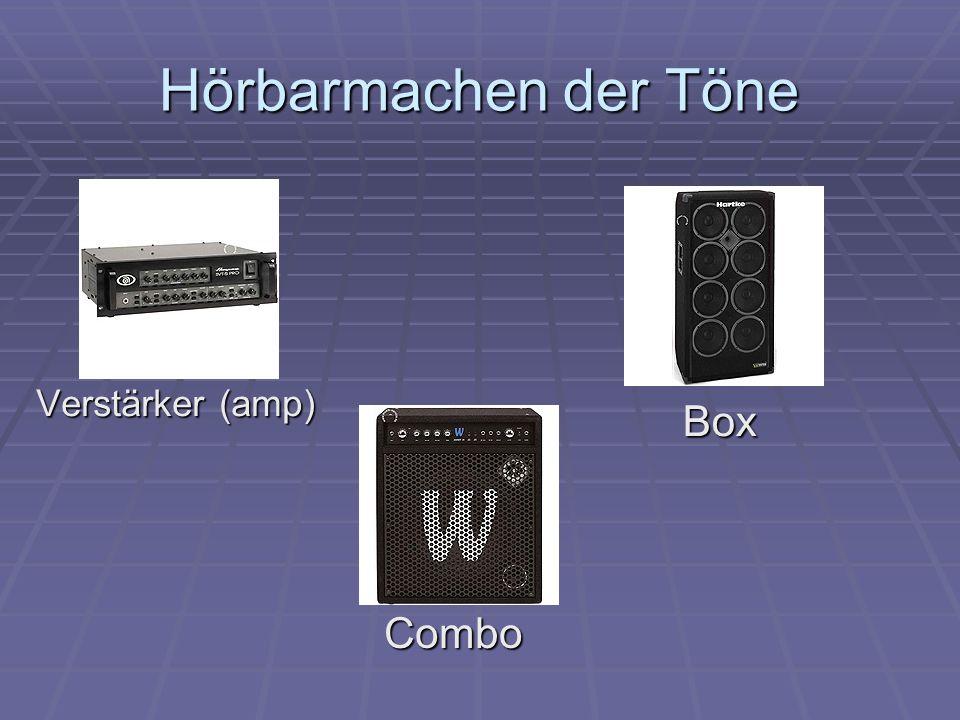 Hörbarmachen der Töne Box Combo Verstärker (amp) Referat: E-Bass