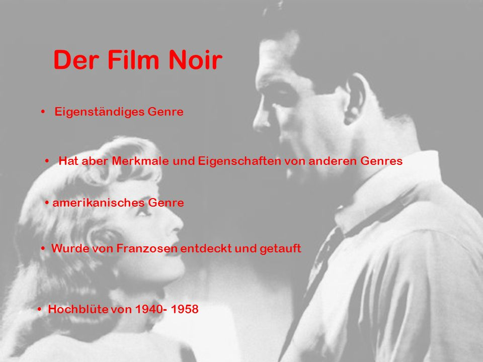 Der Film Noir Eigenständiges Genre