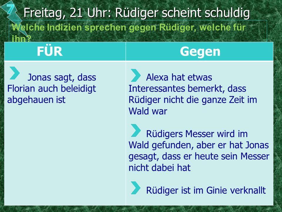 Freitag, 21 Uhr: Rüdiger scheint schuldig