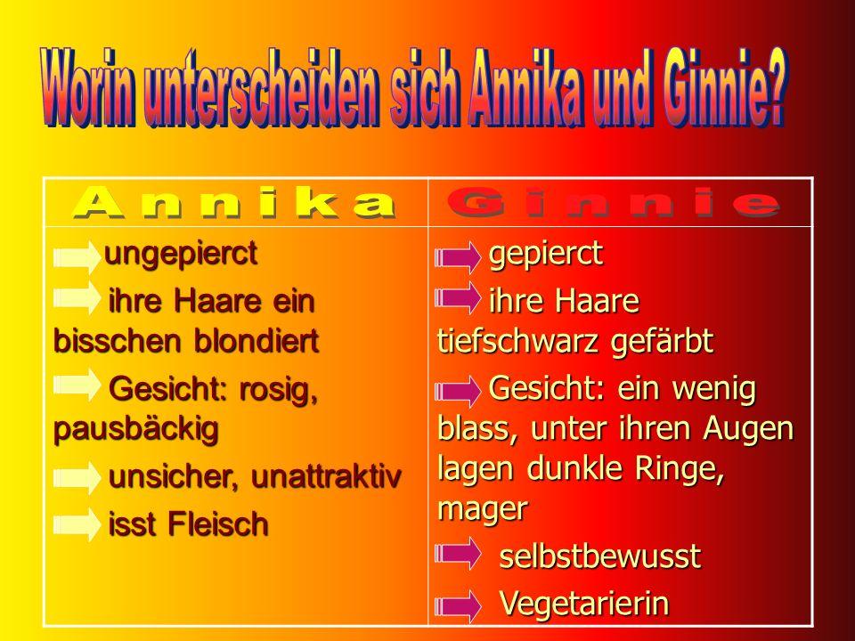 Worin unterscheiden sich Annika und Ginnie