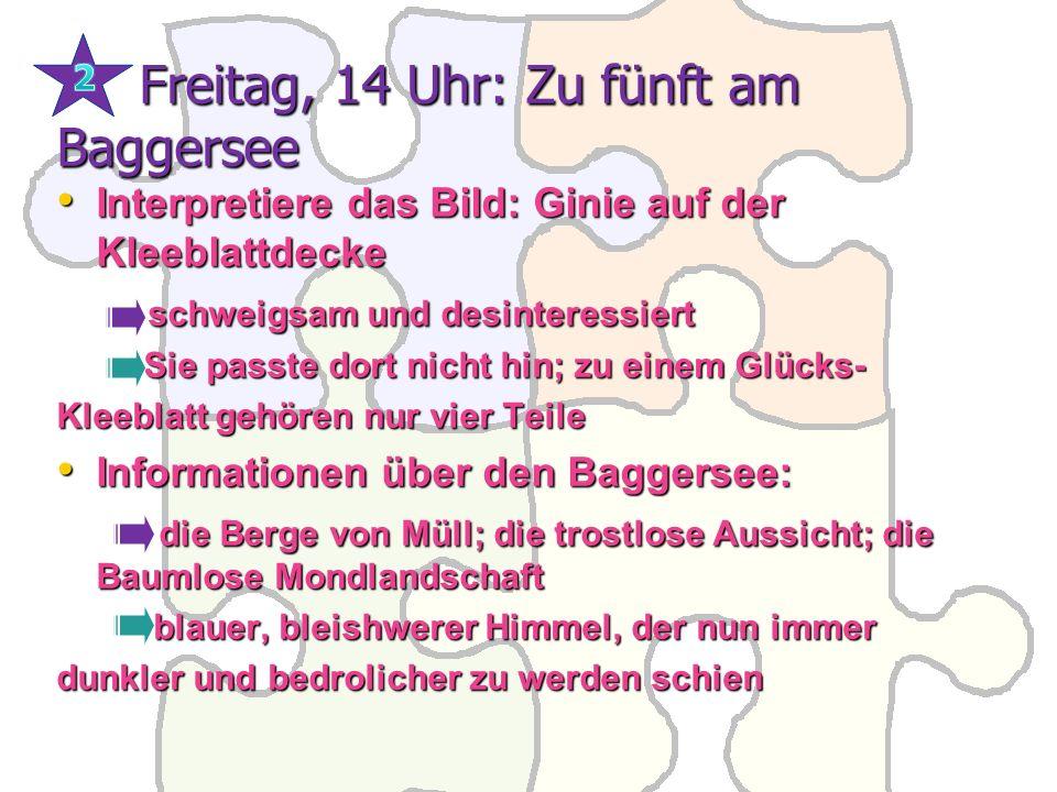 Freitag, 14 Uhr: Zu fünft am Baggersee