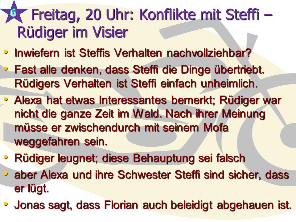 Freitag, 20 Uhr: Konflikte mit Steffi – Rüdiger im Visier
