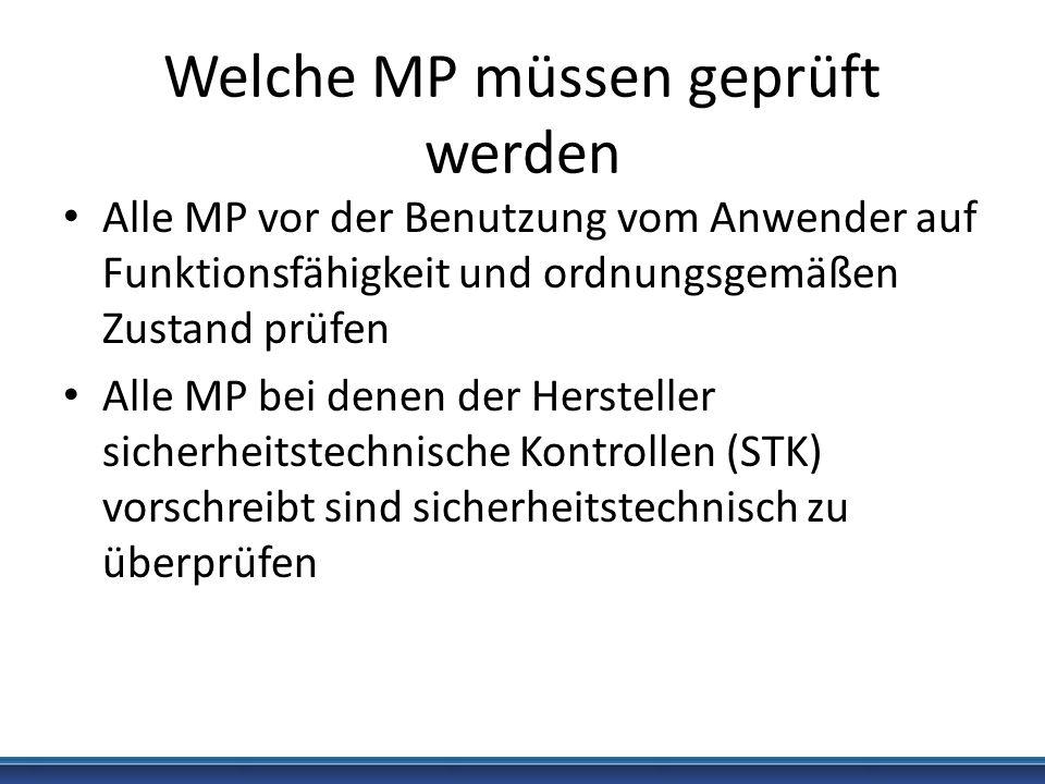 Welche MP müssen geprüft werden