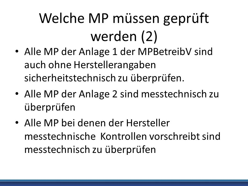 Welche MP müssen geprüft werden (2)