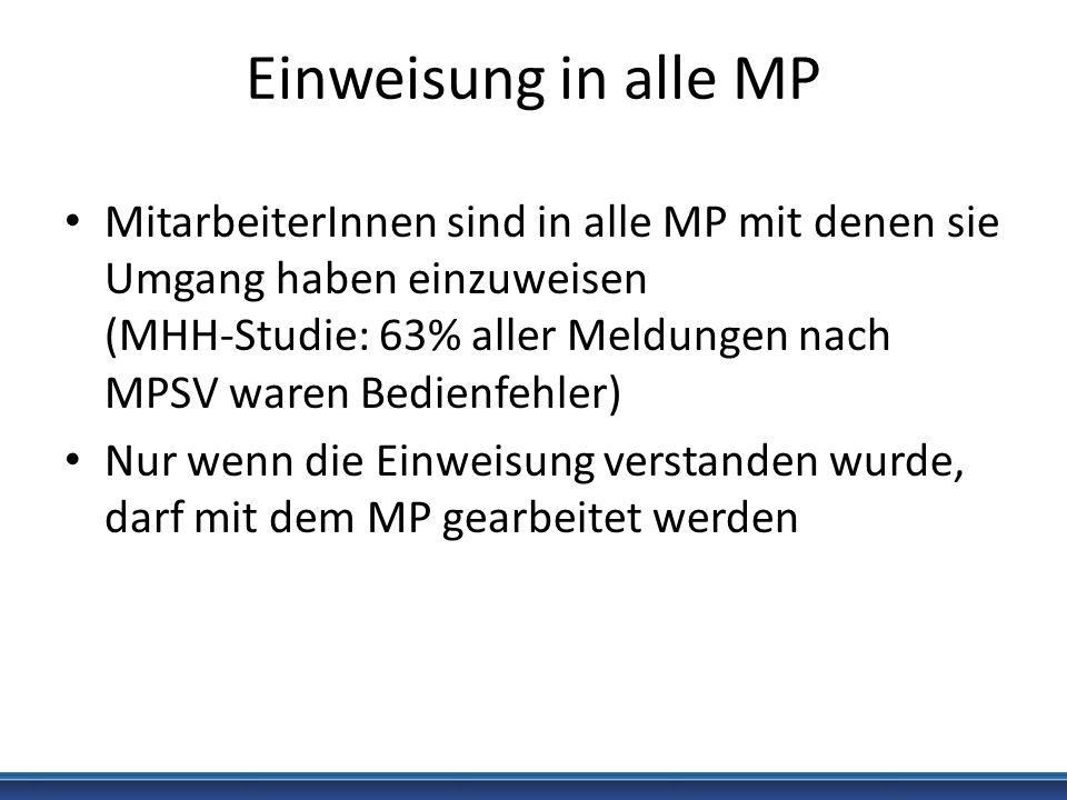 Einweisung in alle MP