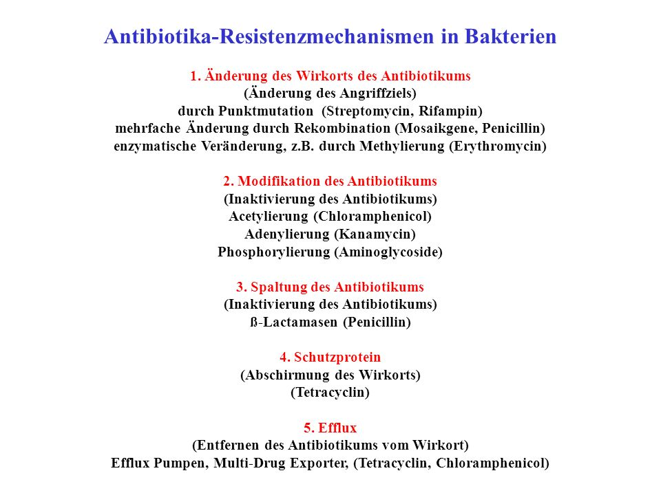 Antibiotika-Resistenzmechanismen in Bakterien