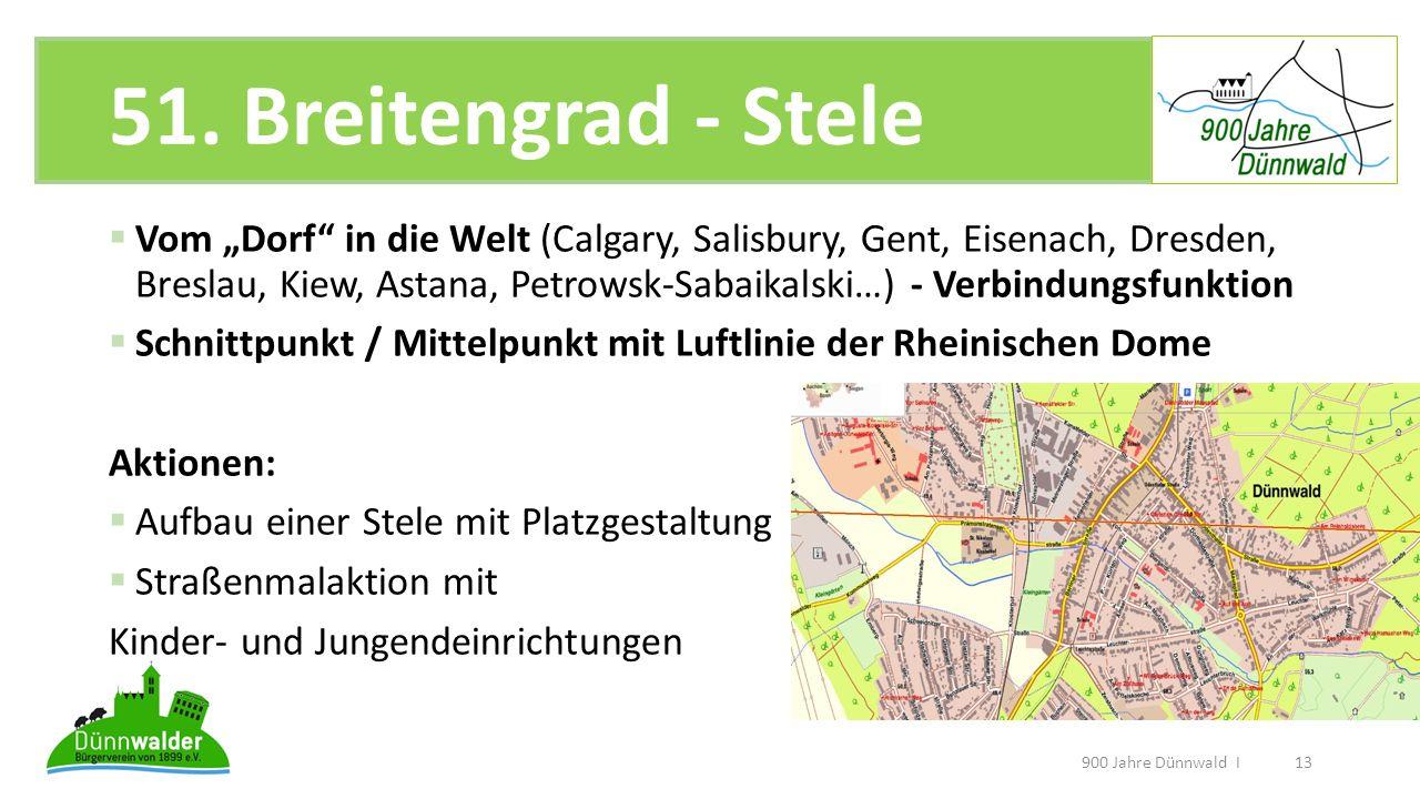 51. Breitengrad - Stele