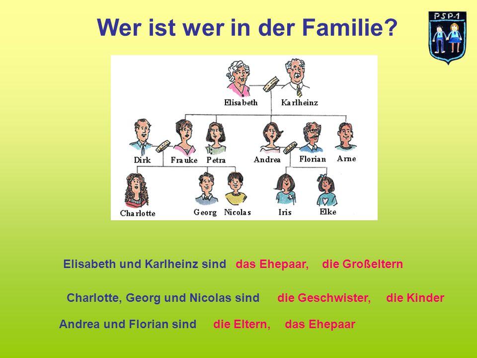 Wer ist wer in der Familie